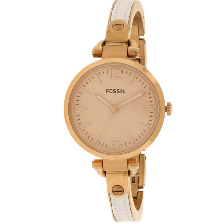 Fossil Georgia Stainless Steel And Leather Ladies Watch ES3261