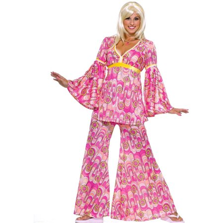 Flower Power Hippie Women's Adult Halloween Costume, 1 Size - Last Minute Hippie Halloween Costume