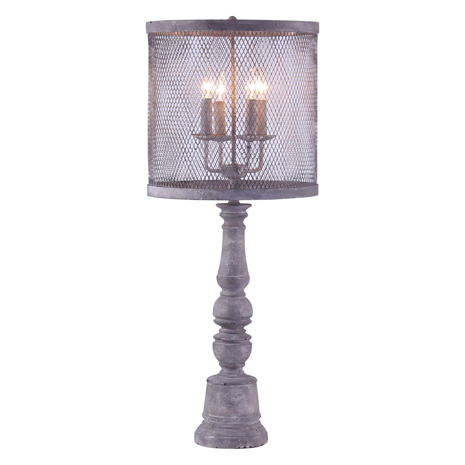 Image of A Homestead Shoppe Arlington Table Lamp - Mesh Shade