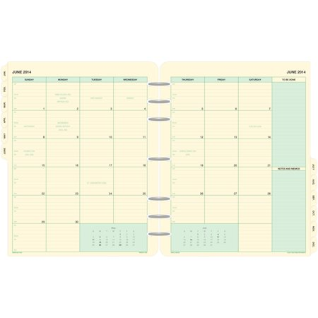 Day-Timer 2-Page-Per-Month Tabbed Calendars Folio Size -