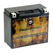 Pirate Battery YTX20HL-BS (20HL-BS 12 Volt,18 Ah, 310 CCA) High Performance Power Sports Battery