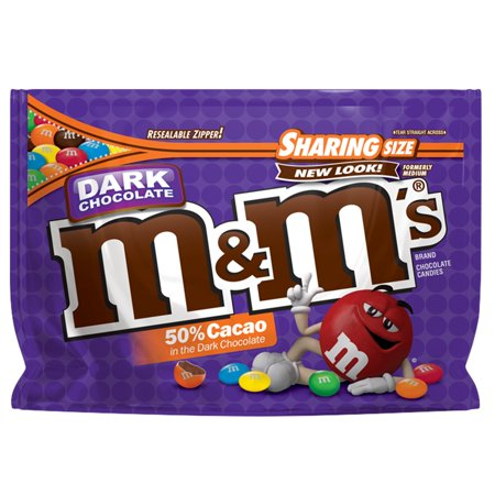 M&Ms Dark Chocolate Sharing Size Chocolate Candies Pouch - 10.1oz