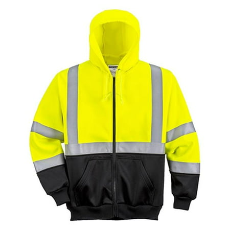 - Portwest UB315 3XL Hi-Visibility 2-Tone Zipped Hoodie Sweatshirt, Yellow & Black - Regular