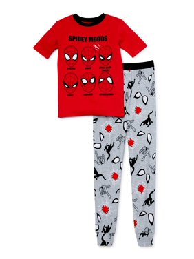 Spider-Man Boys Exclusive 4-10 Short Sleeve Long Pant, 2-Piece Pajama Set