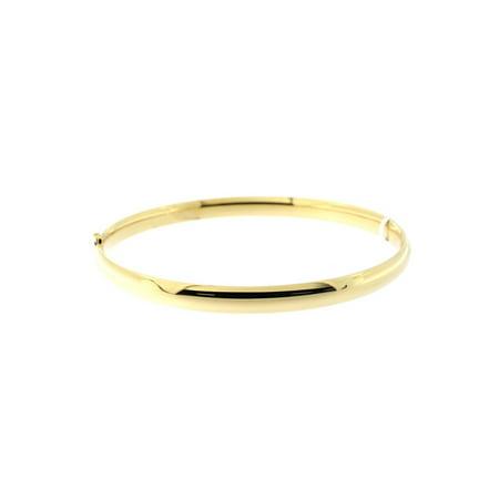 """10k Yellow Gold 5mm Polished Bangle Bracelet, 7"""""""