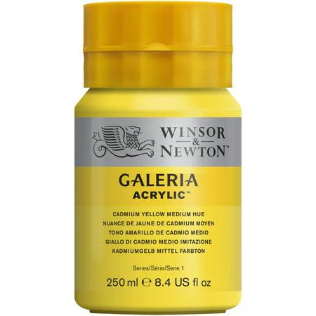 Winsor & Newton Galeria Acrylic, 250ml Squeeze Bottle, Cadmium Yellow Medium