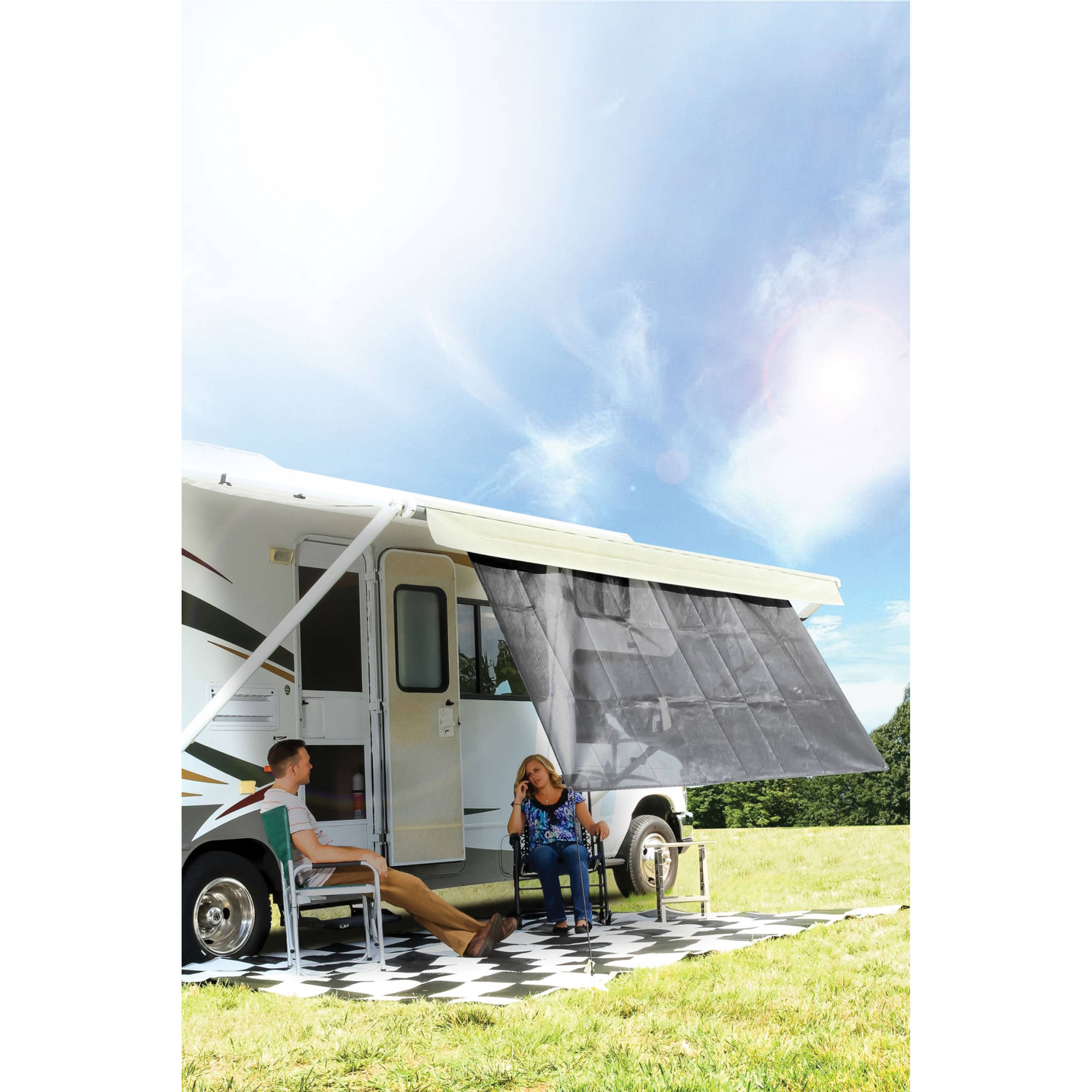 Camco Rv Awning Shade Kit Choose Your Size And Color Walmart Com Walmart Com