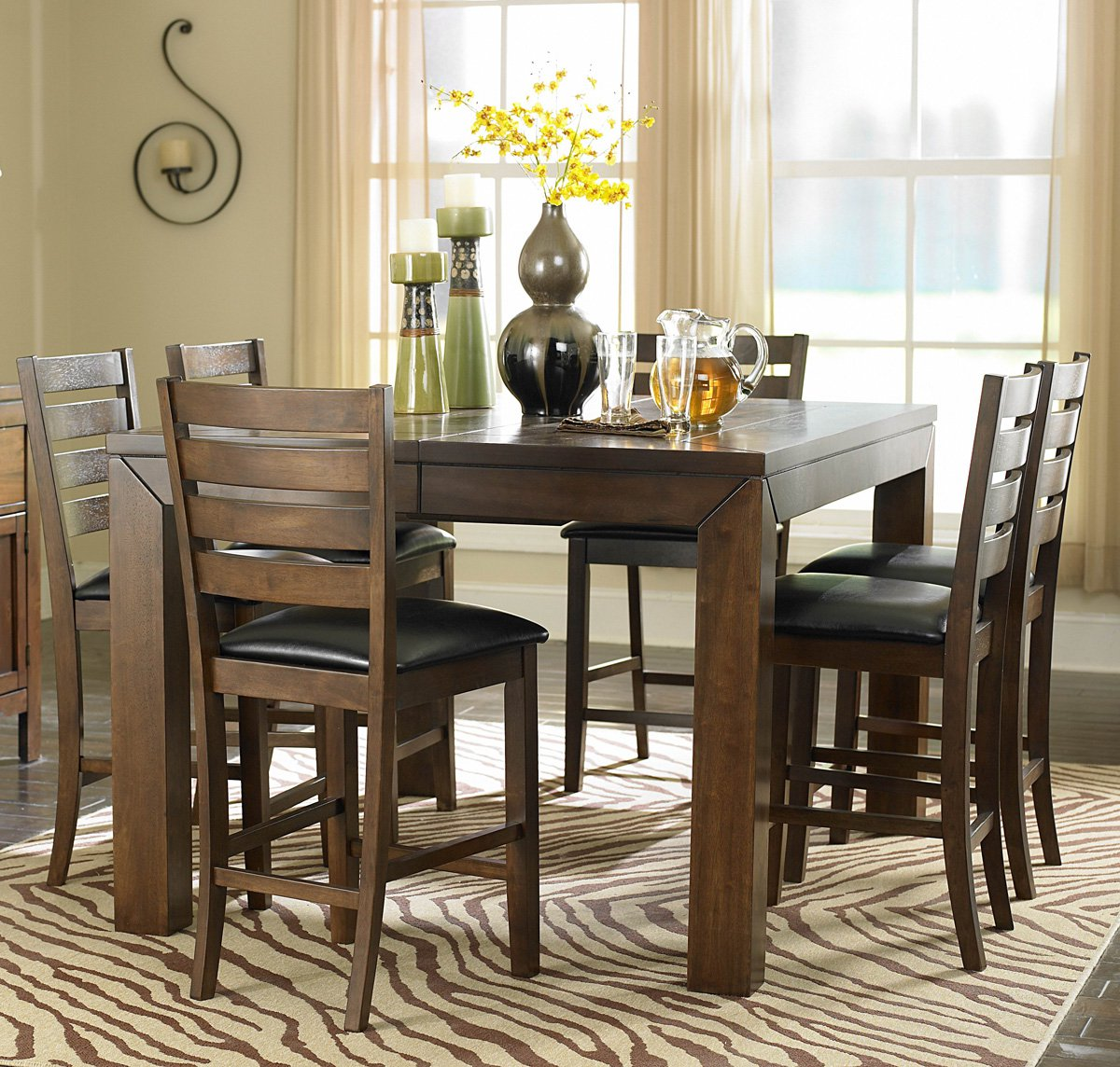 Homelegance Eagleville Butterfly Leaf Counter Height Table In Brown