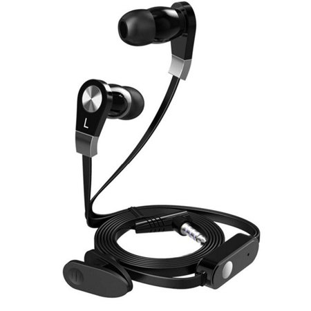 CiCi Gadgets Stream Premium High Quality Stereo Earphone with Mic Control - Black