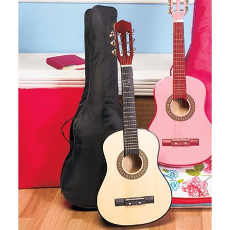 30 wood guitar with case black. Black Bedroom Furniture Sets. Home Design Ideas