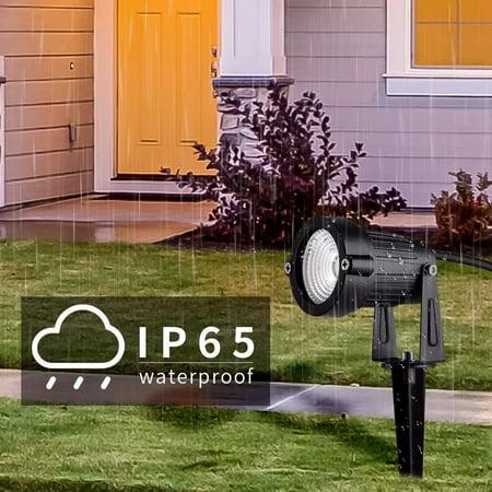 8Pack Lighting LED Outdoor Landscape Garden Flood Lights - 10W Path Walkway Lawn Spotlights - IP65 Waterproof - High Lumen Purple - Purple Spotlight