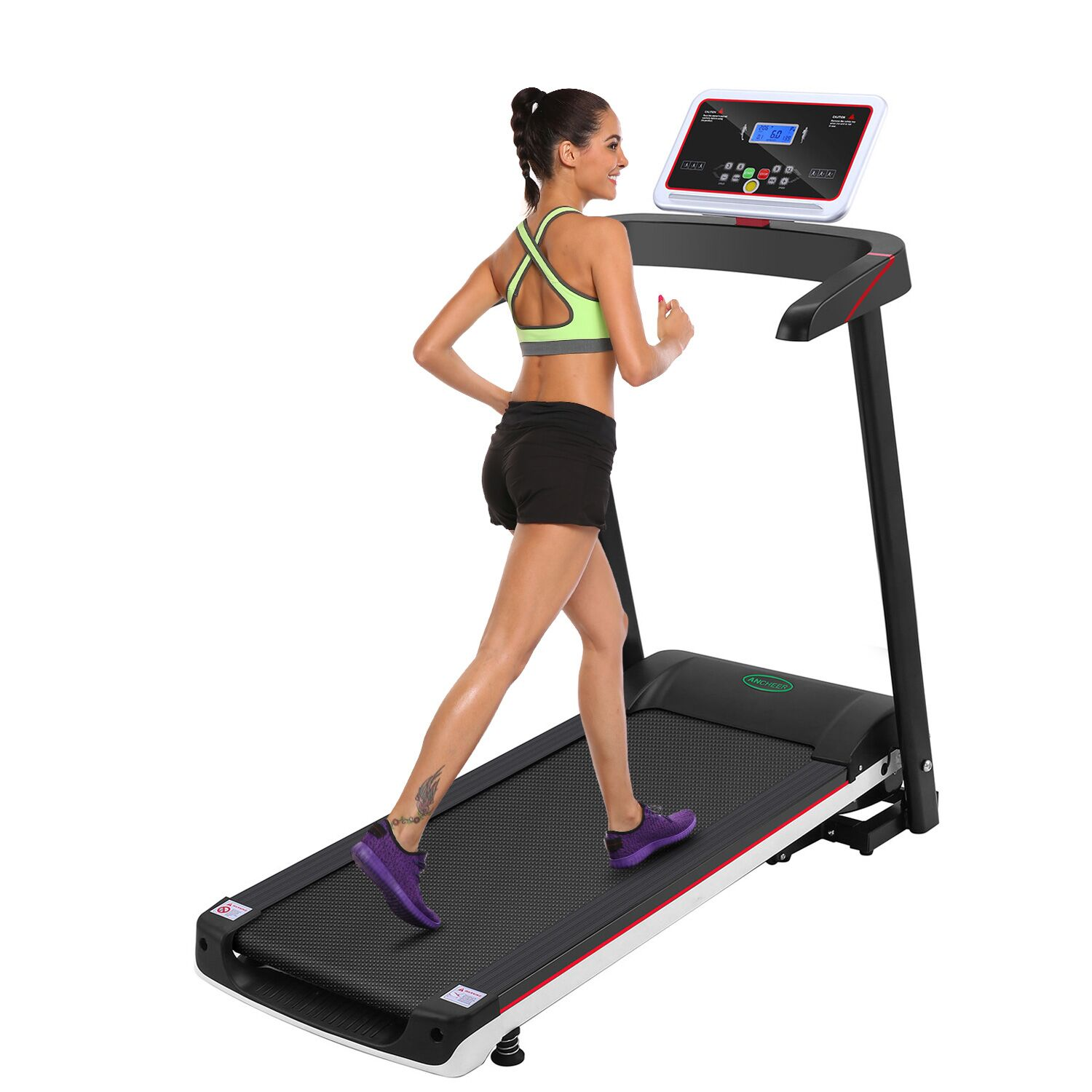 Hascon 2.5HP+12 sports Modes Treadmill Fitness Folding Electric Treadmill Exercise Equipment Walking Running Machine Gym Home