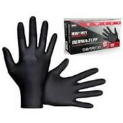 SAS Safety SAS-66582 Derma Tuff PF Heavy Duty Disposable Nitrile Gloves, Medium - 6 Mil