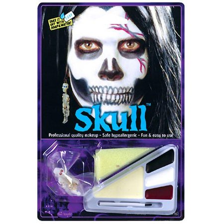 Adult Skull Halloween Makeup Kit - Tutorial Halloween Makeup Skull