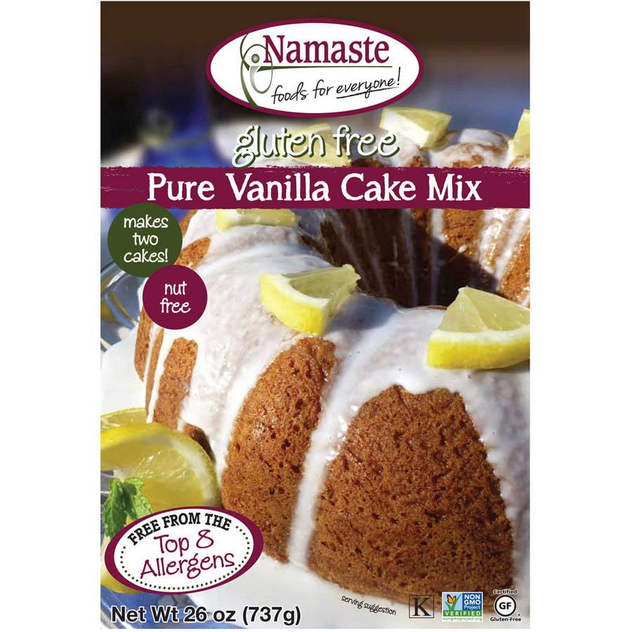 Namaste Foods Gluten Free Vanilla Cake Mix, 26 oz (Pack of 6)