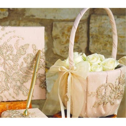 Beverly Clark 226VI Bella Donna Flower Girl Basket - Ivory