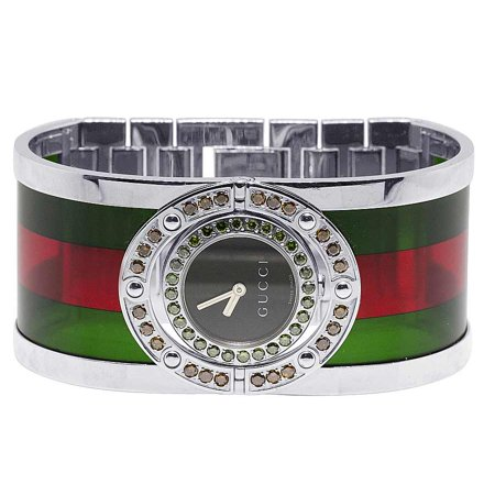 808c1275ab5 Gucci - Ladies Twirl Green Red Diamond Watch 2.5 Ct YA112417 - Walmart.com