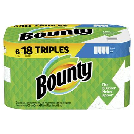 Empty Paper Towel Rolls (Bounty Select-A-Size Paper Towels, White, 6 Triple Rolls = 18 Regular)