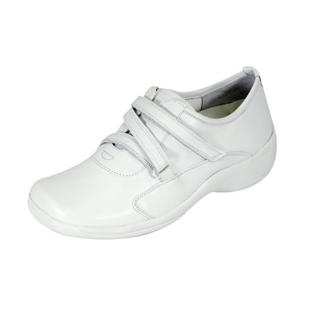 24 HOUR COMFORT Jordan Wide Width Comfort Shoe For Work and Casual Attire WHITE