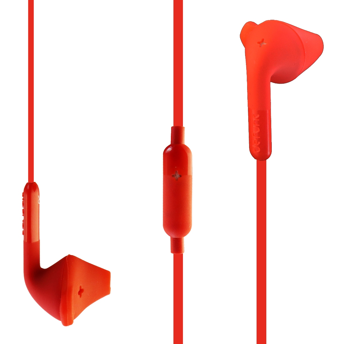 Defunc Hybrid HIFI Drivers Ambient Sound Awareness Wired In Ear Headphones Red (Refurbished)