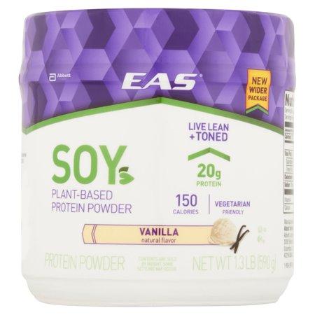 EAS ® soja vanille Vegan poudre de protéine 1,3 lb Canister