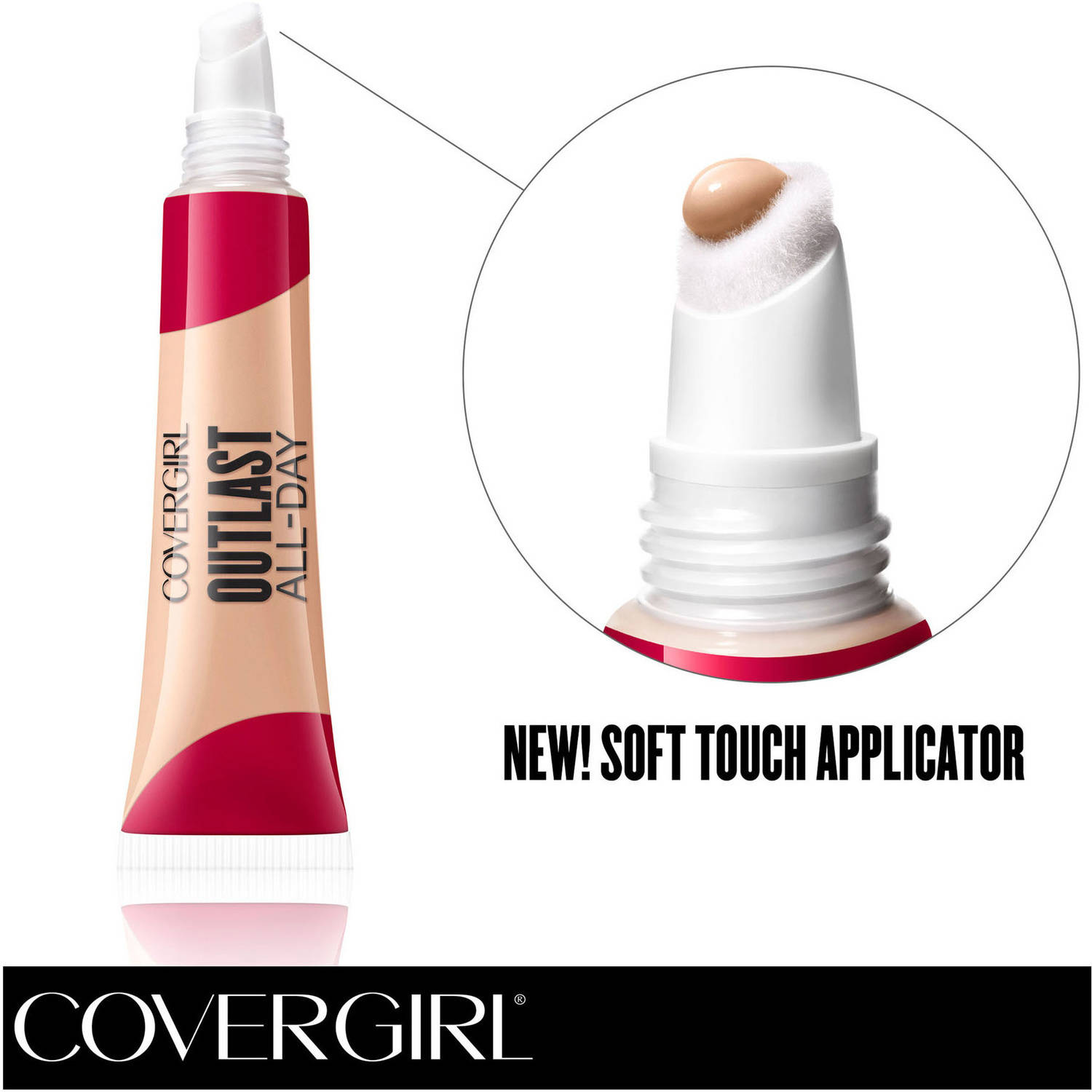 COVERGIRL Outlast All-Day Soft Touch Concealer, Fair 810, .34 fl oz