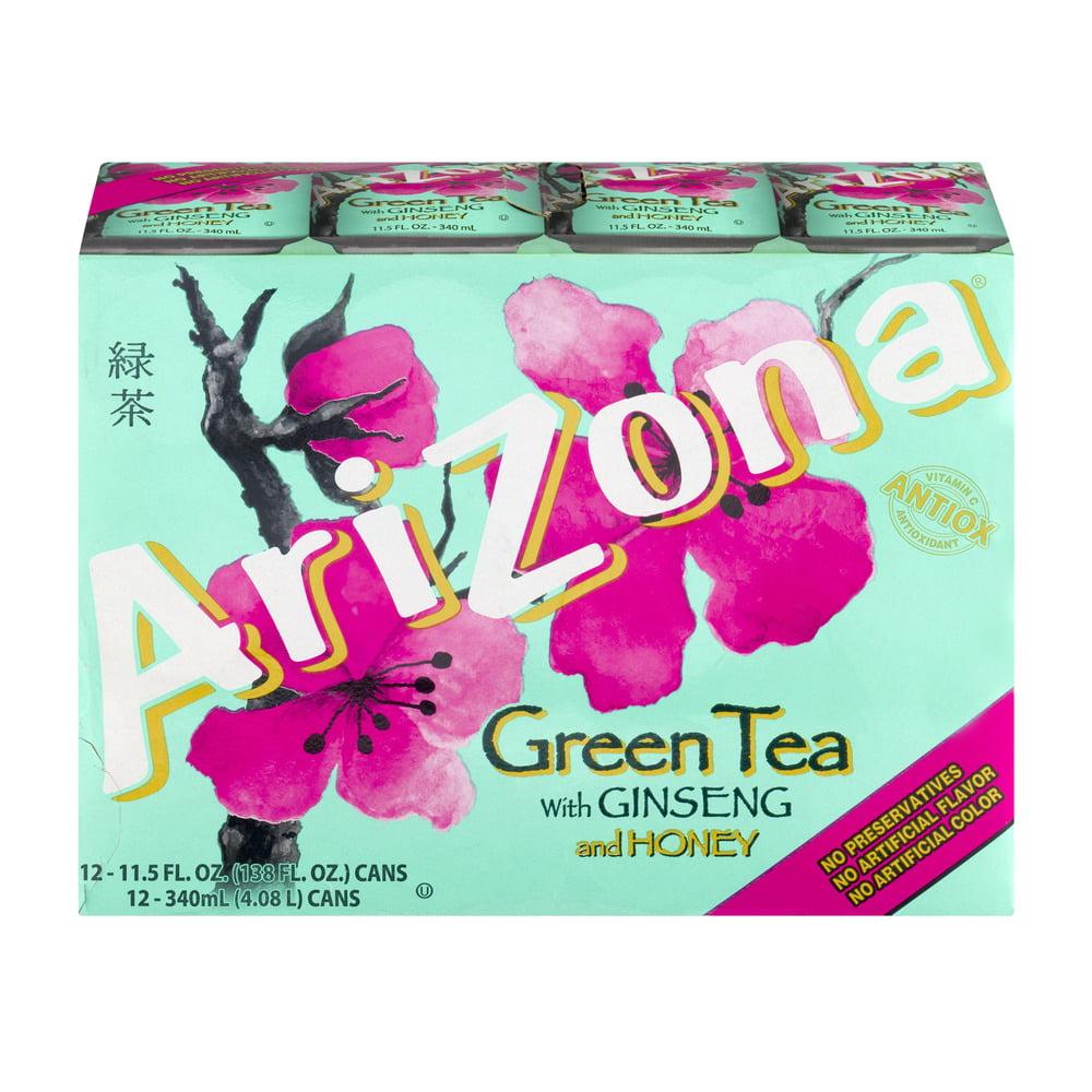 AriZona Green Tea With Ginseng And Honey 12 PK, 11.5 FL OZ by AriZona Beverages USA