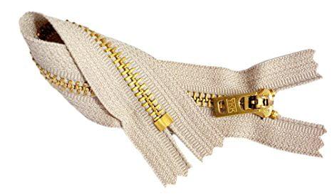 16 cm Yellow Gold Teeth  Denim Zip Metal Closed EndJeans Zip,Skirt Zip unteilbarer Rei\u00dfverschluss f\u00fcr Jeans Metal Zip Short zip