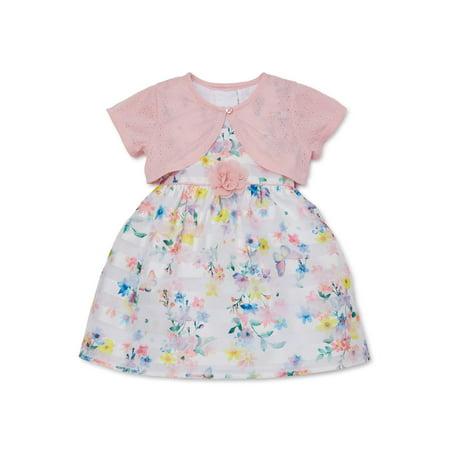 Girls Dresses On Sale (Wonder Nation Baby & Toddler Girls Easter Floral Dress with Shrug (Sizes)