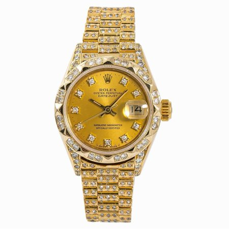 Pre-Owned Rolex Datejust 69278 Gold Women Watch (Certified Authentic & Warranty)