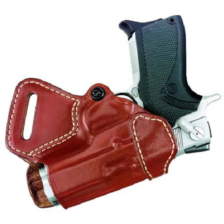 Gould and Goodrich 806-G27 Gold Line Small of Back Holster, Chestnut Brown