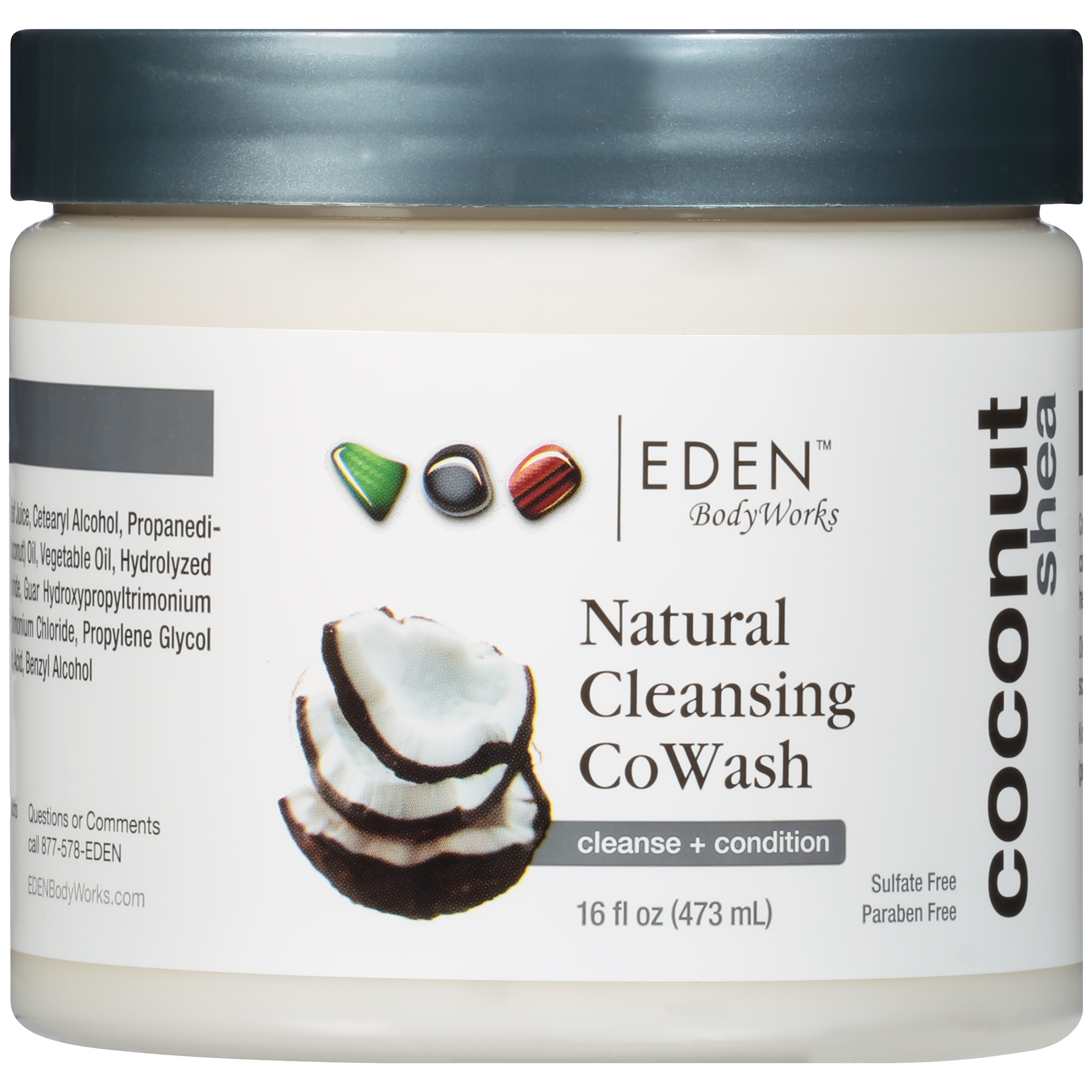 Eden™ Coconut Shea Natural Cleansing CoWash 16 fl. oz. Jar