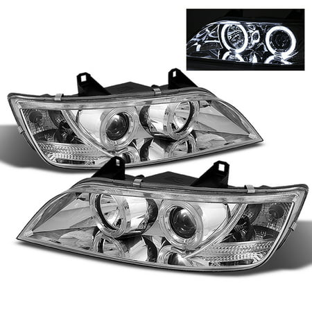 Fits 96-02 BMW Z3 Roadster M Coupe Clear Dual Halo Projector LED Headlights Lamp