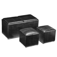 Jameson Double Storage Ottoman with Tray Tables (Several Colors)