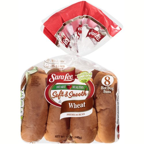 Sara Lee Soft & Smooth Wheat Hot Dog Buns, 12 oz