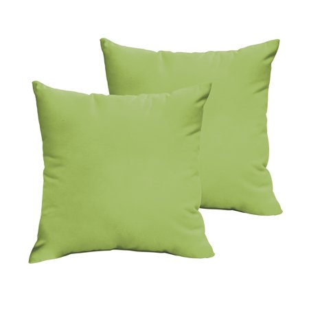 Humble and Haute Sloane Apple Green 18 x 18-inch Indoor/ Outdoor Knife Edge Pillow Set ()