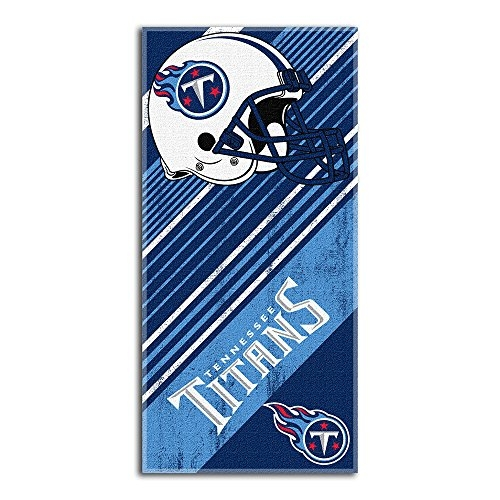 The Northwest Company NFL Tennessee Titans Diagonal Beach Towel, 28-Inch by 58-Inch