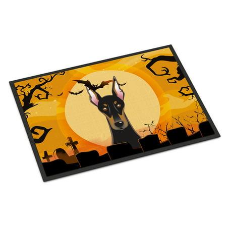 Halloween Doberman Door Mat (Halloween Math)