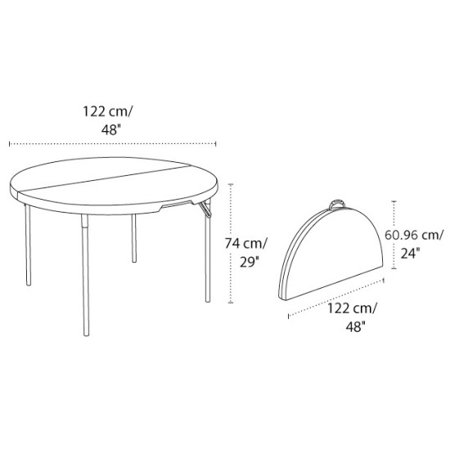 Lifetime 48 Fold In Half Round Table 80508