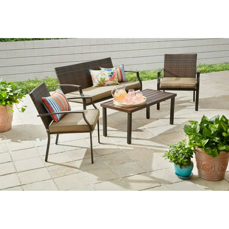 Better Homes And Gardens Boxford 4 Piece Wicker Stacking
