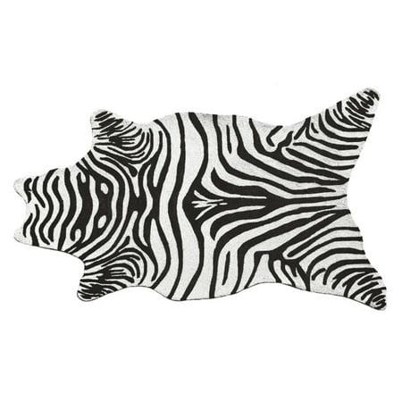 The Rug Market Zebra Black Shaped Rug, 5' x 8' ()
