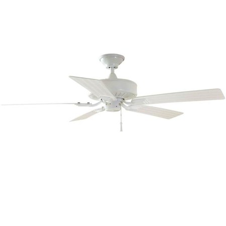 Hampton Bay Barrow Island 52 in. Indoor/Outdoor White Ceiling Fan
