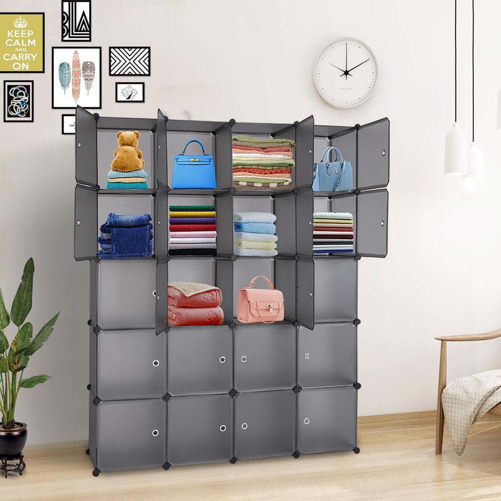 topcobe cube storage organizer 20 cube storage unit for