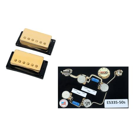 Es 335 Bigsby (Duncan SH-55 Seth Lover Bridge & Neck Pickup Set Gold+ES-335 50s Wiring Harness)