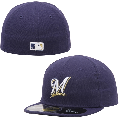 Milwaukee Brewers New Era Infant My 1st 59FIFTY Fitted Hat - Navy - 6