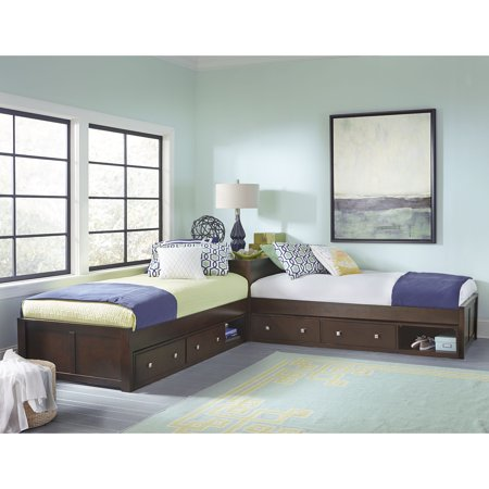 Hillsdale Pulse L Shaped Twin Bed With Double Storage