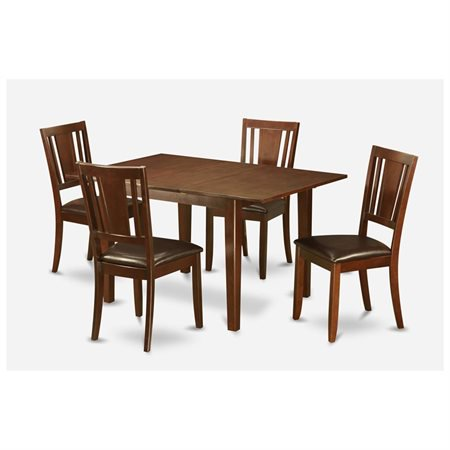Psdu5 mah lc 5 pc dinette set for small spaces small for Small dining chairs small spaces