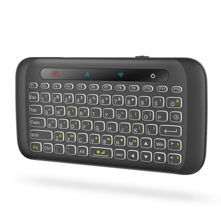 2.4GHz Wireless Keyboard Colorful Backlight Touchpad Handheld Remote Control w/ Large Touch Panel IR Learning for Smart TV Android TV Box PC