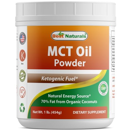 Best Naturals MCT Oil Powder 1 Pound - Ketosis Supplement (Medium Chain Triglycerides - Coconuts) for Ketone Energy - Easy to Digest - for Coffee, Smoothies & Hot (Best Mct Oil Supplement)