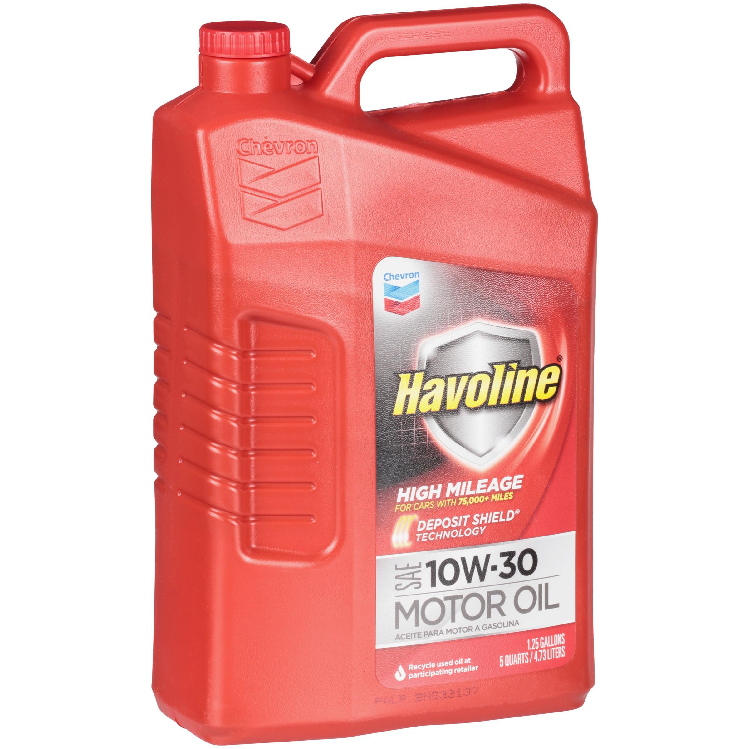 Havoline® High Mileage SAE 10W-30 Motor Oil 5 qt. Jug